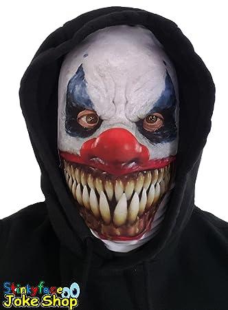 Máscara de payaso asesino diabólico para adulto, realista, impreso sobre licra, para Halloween: Amazon.es: Juguetes y juegos