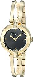 Salvatore Ferragamo Women's Miniature' Swiss Quartz Stainless Steel and Gold Casual Watch(Model: FAT080017)