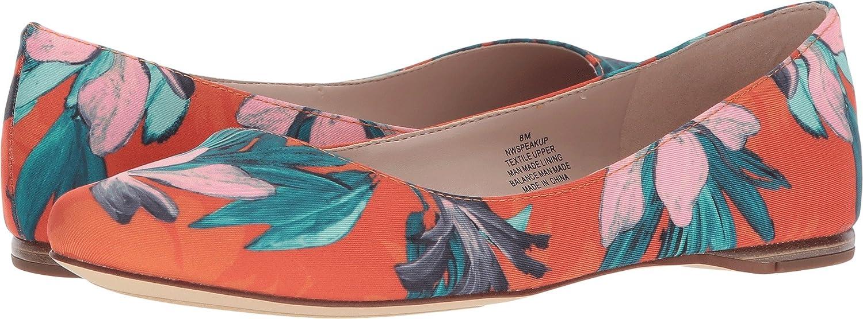 Nine West Women's Speakup Canvas Ballet Flat B079R4N19G 11 B(M) US|Orange Multi Fabric