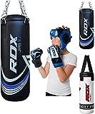 RDX Kinder Boxsack Set Gefüllt Kickboxen MMA Kampfsport Muay Thai Boxen mit Kette Training Handschuhe Kampfsport Schwer Junior 2FT Punching Bag