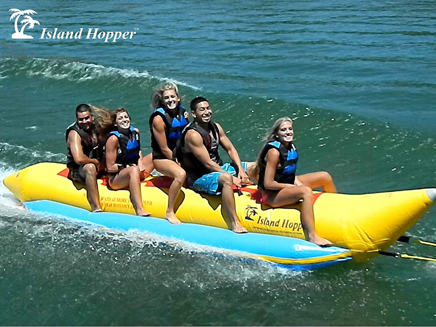 Amazon.com: Island Hopper Recreational Banana Boat 3 Passenger Towable  Tube: Sports & Outdoors