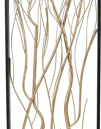 Winsome House Luxen Home 2-Piece Metal Gold Branch Wall Decor