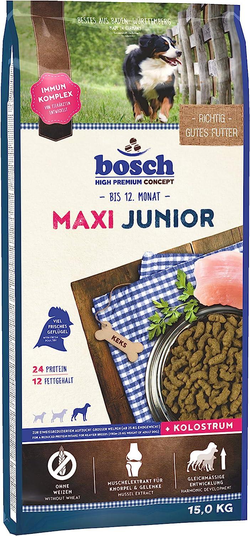 bosch HPC Maxi Junior   Comida seca para la cría de perros jóvenes de razas grandes   Reducido en proteínas