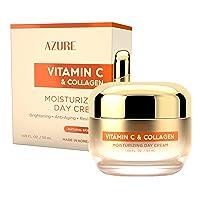 AZURE Vitamin C & Collagen Moisturizing Day Cream - Brightening & Revitalizing |...
