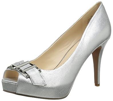 Nine West Womens Celestine Metallic, Silver, ...