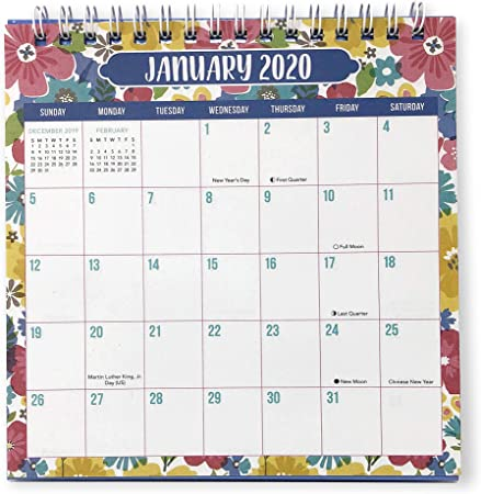 Amazon.com : Desk Monthly Calendar For Year 2020, At A Glance