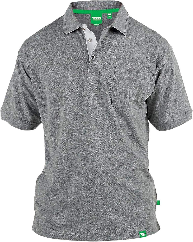 Mens Polo T Shirt D555 Duke Short Sleeved Pique Collared Big King Size Summer