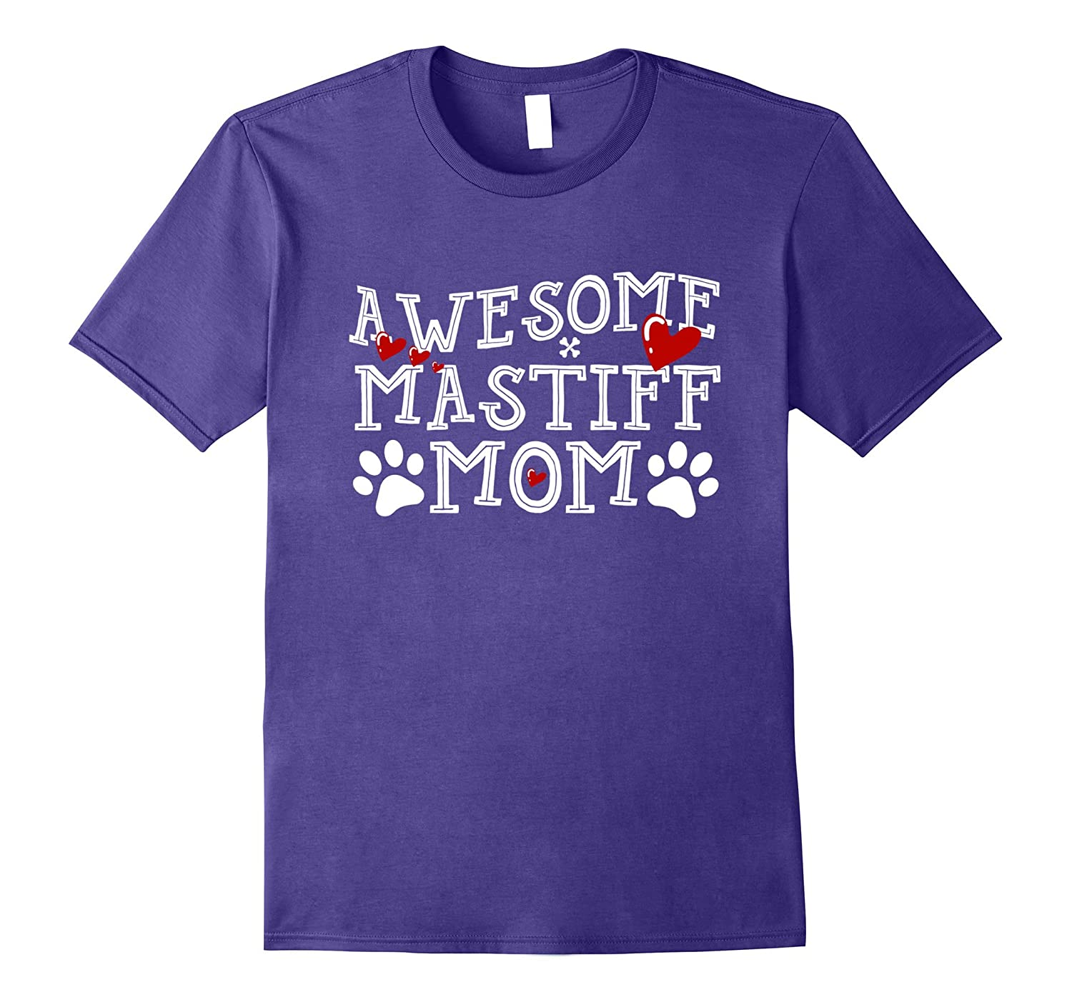 Awesome Dog Mom Mastiff T Shirt-TH