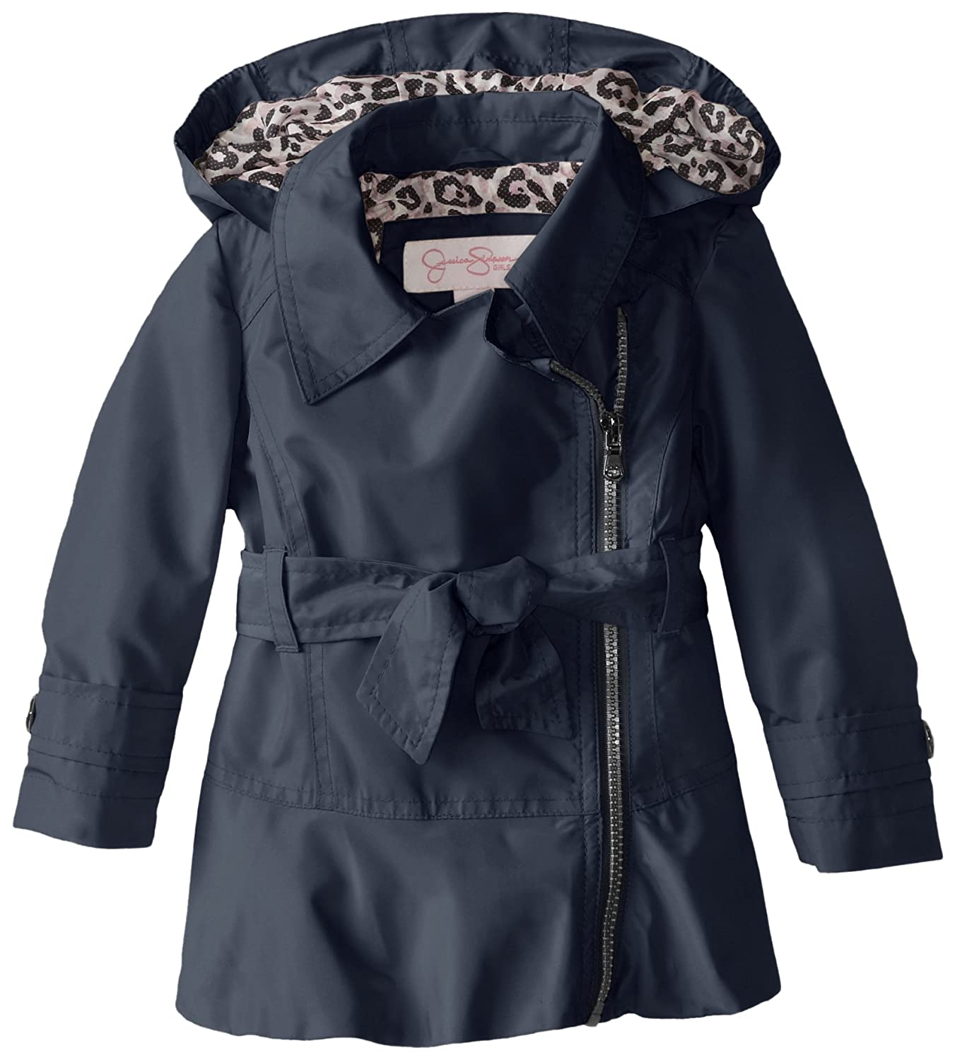 6e60a020f29a Amazon.com  Jessica Simpson Little Girls  Trench Coat with Side Zip ...