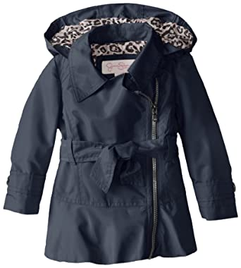 7e0bc699d9671 Amazon.com  Jessica Simpson Little Girls  Trench Coat with Side Zip ...