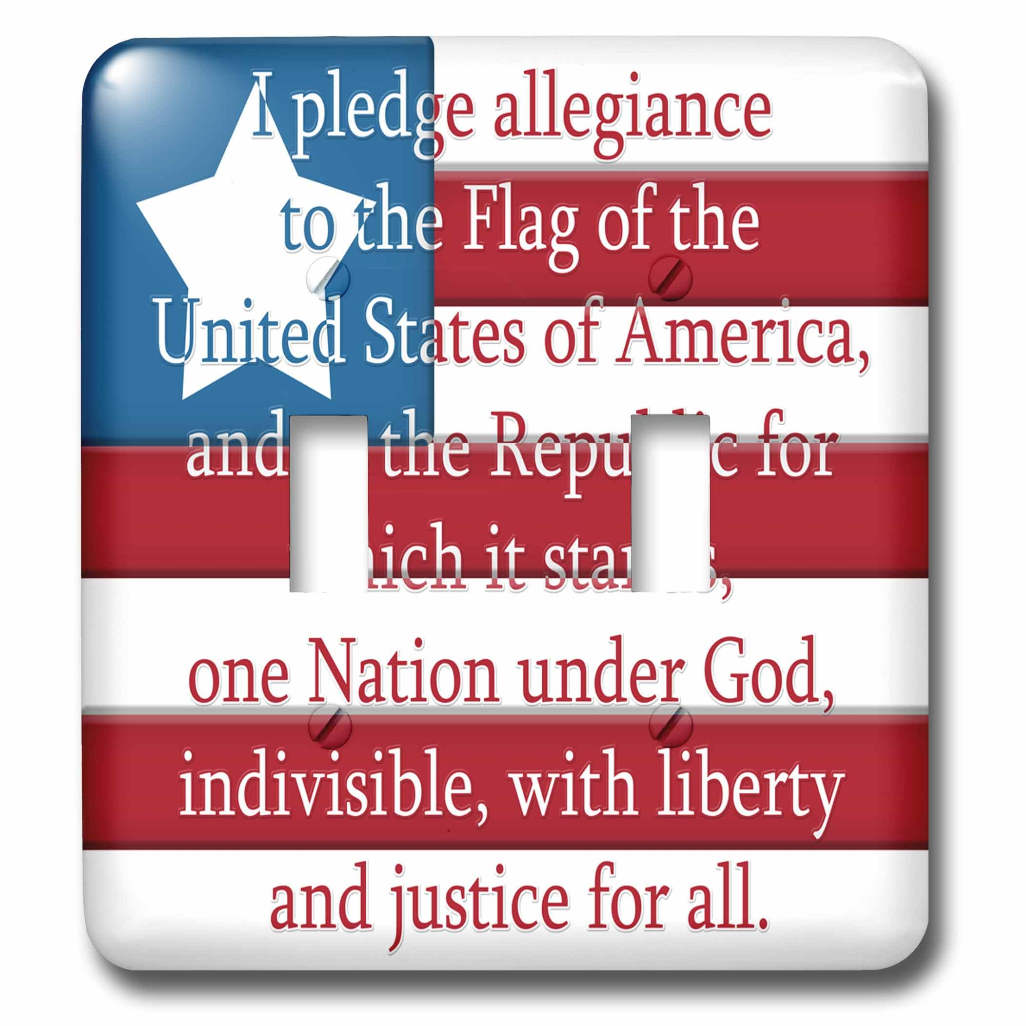 3dRose lsp_267630_2 I Pledge of Allegiance on a USA Flag Toggle Switch, Mixed