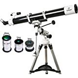 Gskyer Telescope, EQ901000 Astronomy Telescope, German Technology Refractor Telescope
