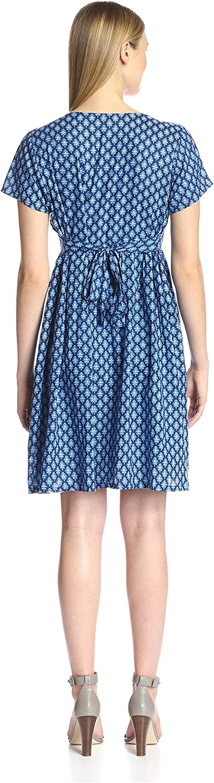 James /& Erin Womens Short Sleeve Tie Back Dress