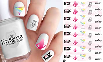 Amazon Katy Perry Nail Decals Set Of 42 Clear Water Slide