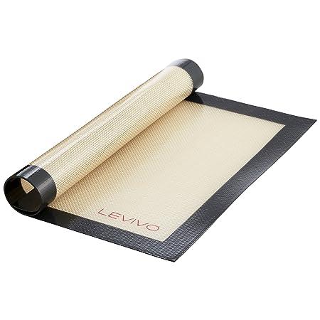 Levivo Tapete para Hornear de Silicona, Estera de Horno Antiadherente, Lámina de Horno Apta para el Lavavajillas - Estera para Hornear, 30 x 40 cm, ...