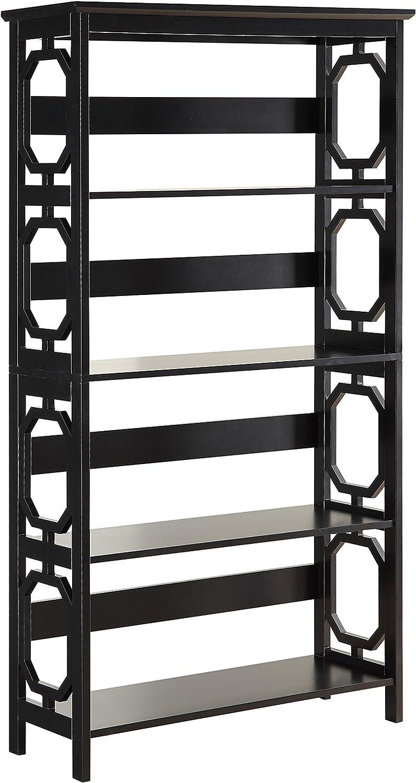 Convenience Concepts Omega 5-Tier Bookcase, Black