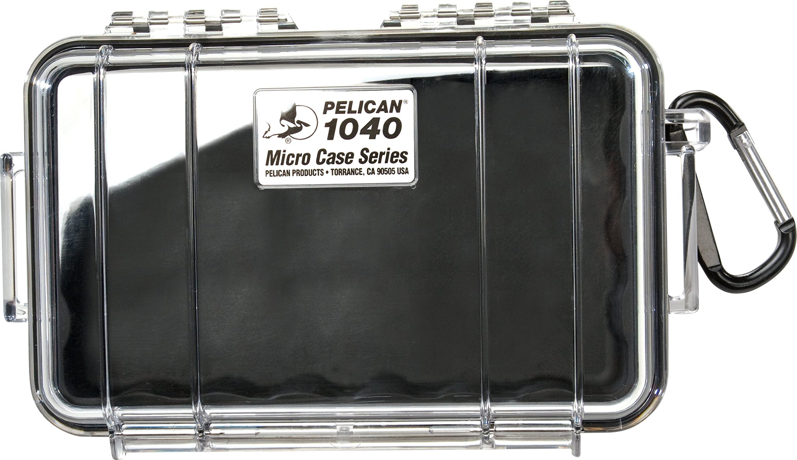 Waterproof Case | Pelican 1040 Micro Case - for iPhone, cell phone, GoPro, camera, and more (Black/Clear) by Pelican