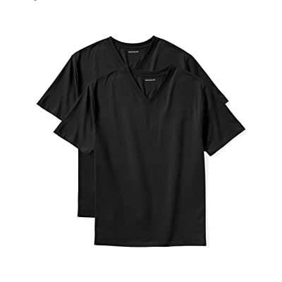 Essentials Men's Big & Tall 2-Pack Short-Sleeve V-Neck T-Shirts fit by DXL: Clothing