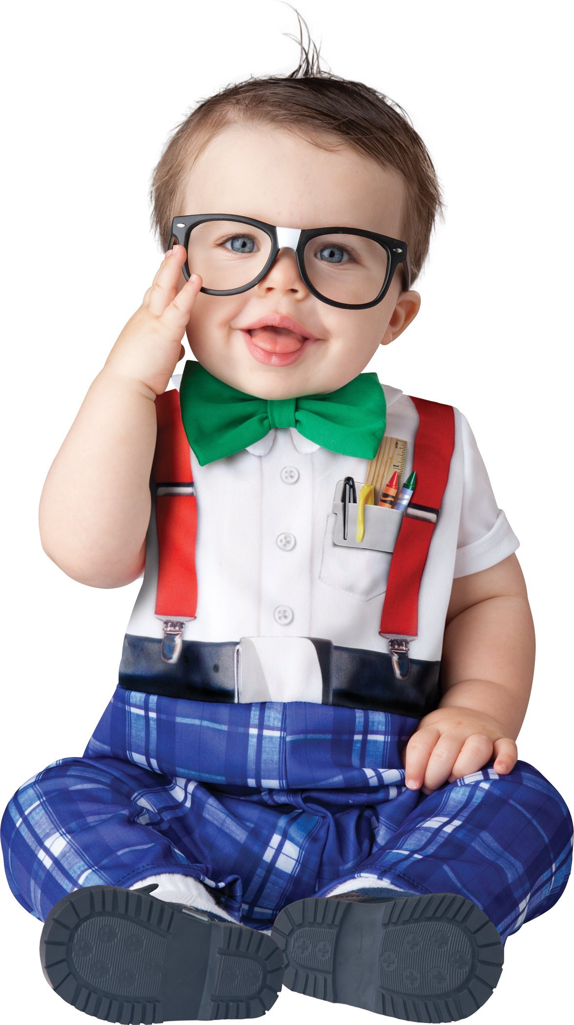 InCharacter Baby Boy's Nursery Nerd Costume, White/Blue, Small