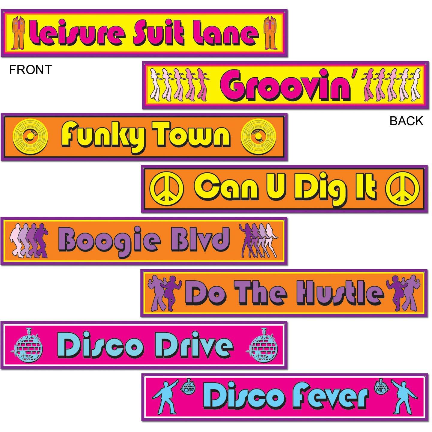 Disco Street Sign Cutouts (4/Pkg) The Beistle Company 54502