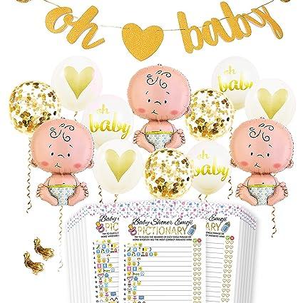 Amazon.com: Kit de decoración para fiesta de baby shower ...