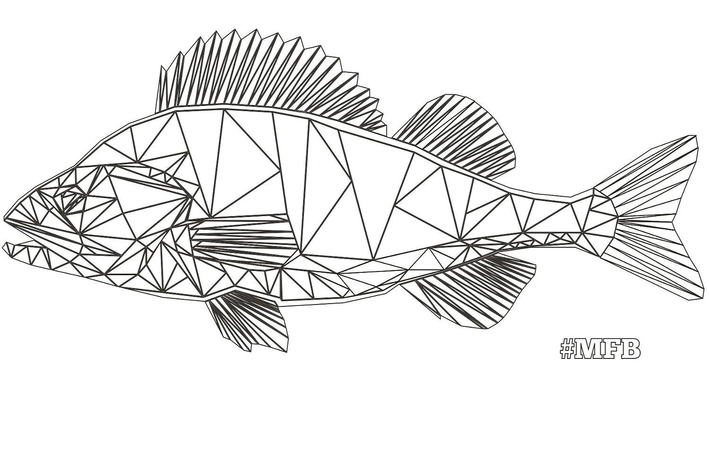 #MFB - MyFishingBox LOWPOLY BAG PERCH // die etwas andere Angeltasche / perfekt gestylt für Freizeit oder Streetfishing / das HipsterBag für Angler im Barsch Design!
