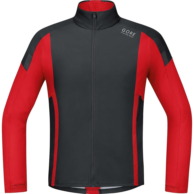 AIR Light Shirt long Super L/éger GORE RUNNING WEAR Homme Veste//Maillot de Course SWSOAI Coupe-vent Taille L GORE WINDSTOPPER Noir//Rouge