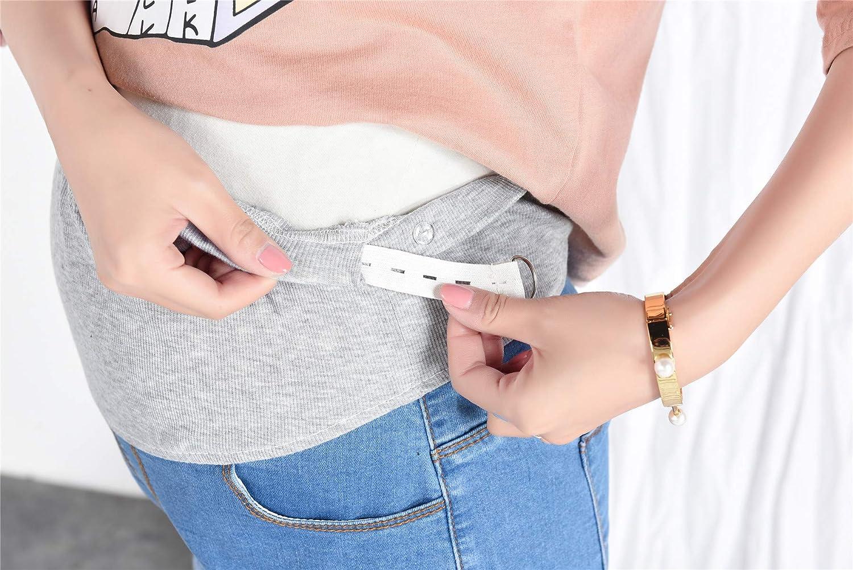 BEMIG Femmes Enceintes Et/é Casual Shorts Doux /Élasticit/é R/églable sur Un Jean Droit avec Poches Shorts de maternit/é en Jean