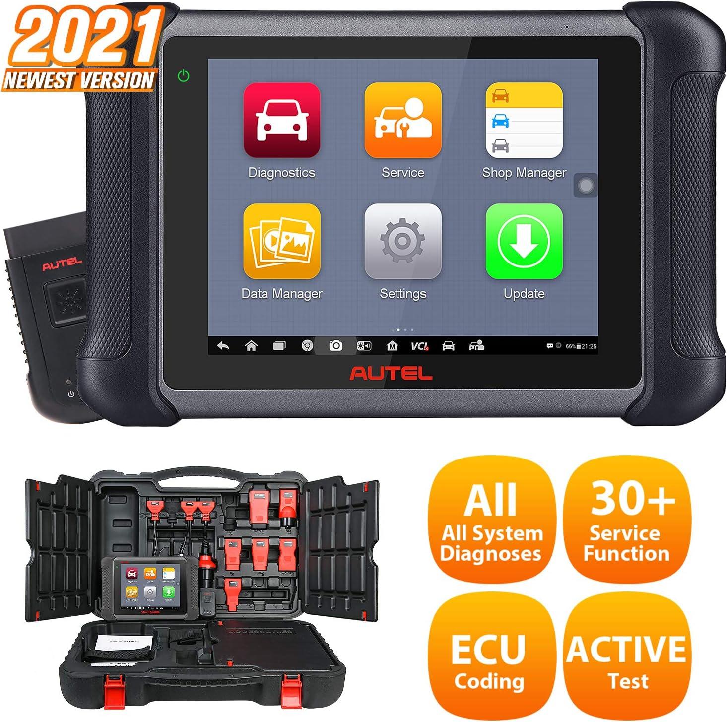Autel Maxisys Ms906bt Obd2 Diagnosegerät Bluetooth Ecu Codieren Diagnosewerkzeug Für Alle Fahrzeuge Obd2 Scanner Codeleser Verbesserte Version Von Ms906 Ds708 Ds808 Nur Englisch Auto