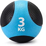 Zelus メディシンボール ソフトウエイトボール 筋トレ 運動 筋肉 フィットネス 3KG&ブルー