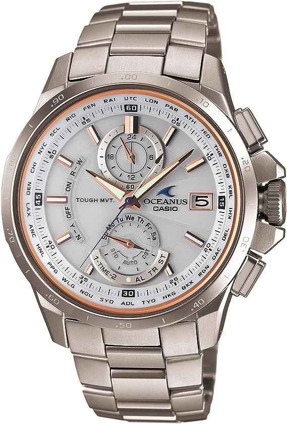 [カシオ] 腕時計 オシアナス スマートアクセス搭載 世界6局対応電波ソーラークロノグラフウォッチ 3年保証 OCW-T1010G-7AJF シルバー
