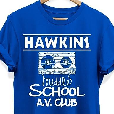 Amazoncom Weezag Hawkins Middle School Tee Shirt Av Club Tshirt
