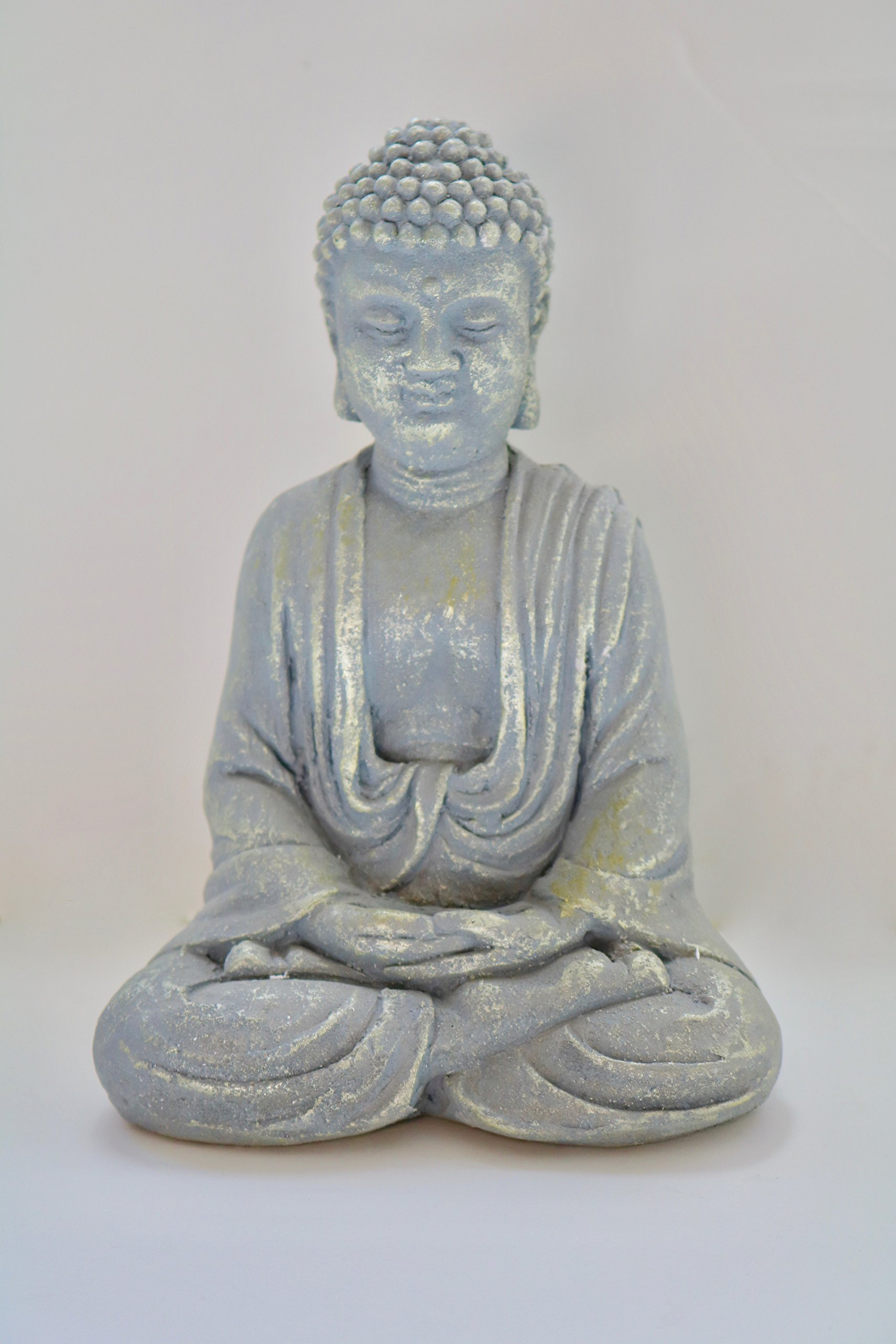 Bestrada USA Blessing Zen Meditating Seated Buddha Stature Indoor Home Decor 17cm High (Sand Stone)