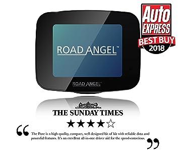 Road Angel Pure detector de cámara, Negro