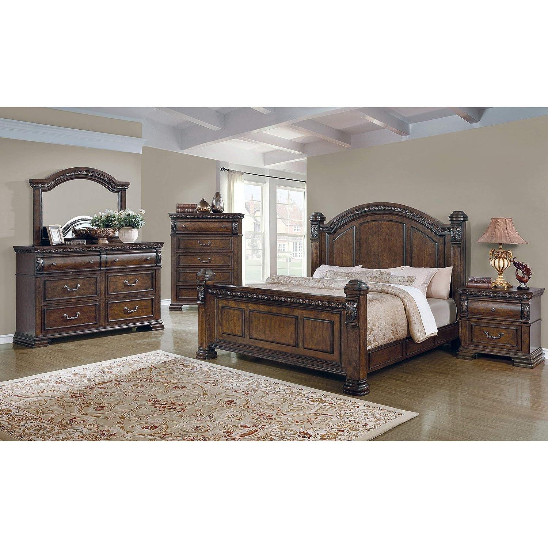 Amazon.com: CDecor Quainton 6-Piece Bedroom Set Queen ...