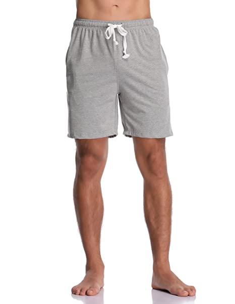 shoes for cheap amazing quality superior quality Luvrobes Men's Cotton Knit Pajama Lounge Shorts Sleep Bottoms