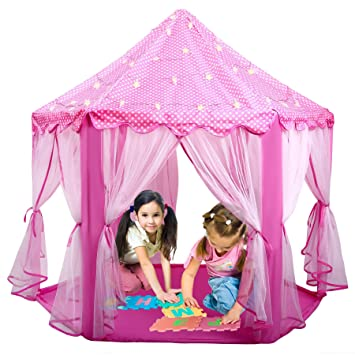 Ladyker Play Tents for Kids Indoor Outdoor Large 55 x 53 Inches Play House for  sc 1 st  Amazon.com & Amazon.com: Ladyker Play Tents for Kids Indoor Outdoor Large 55 x ...