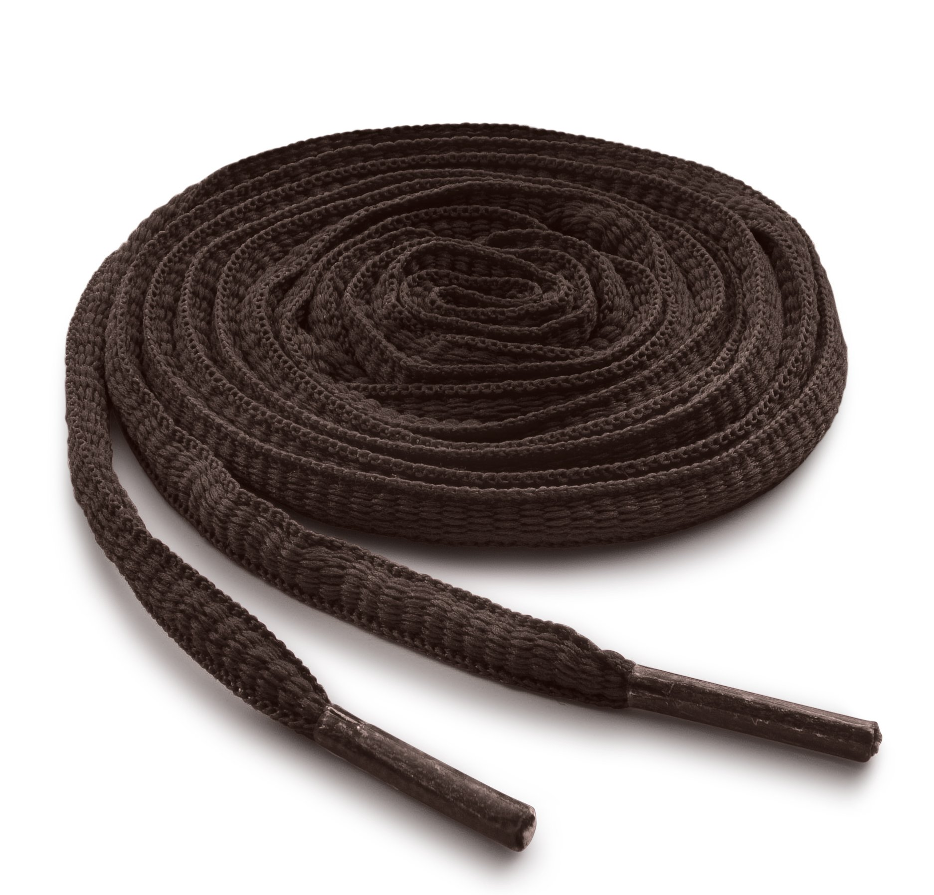 OrthoStep Oval Athletic Brown 63 inch Shoelaces 2 Pair Pack