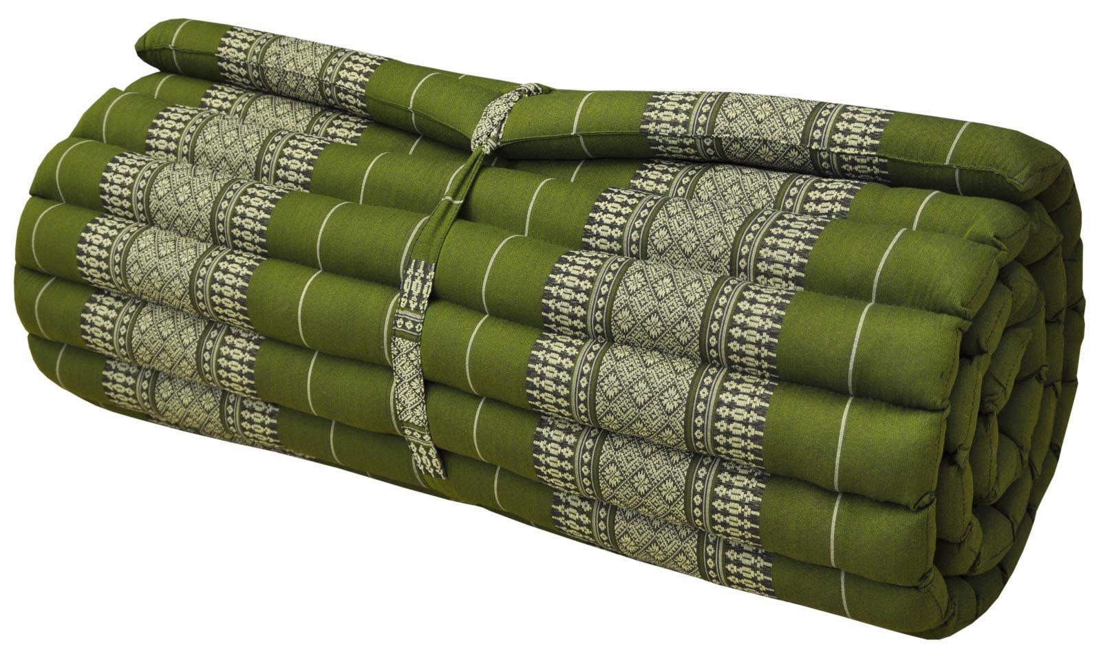 Thai Mattress Roll Up, 21.65 * 63 * 3inch, Kapok, Green by Thai Mattress