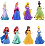 "8-PC Doll Gift Set: 3.75"" Disney Princess, featuring Anna and Elsa from Frozen by Mattel"