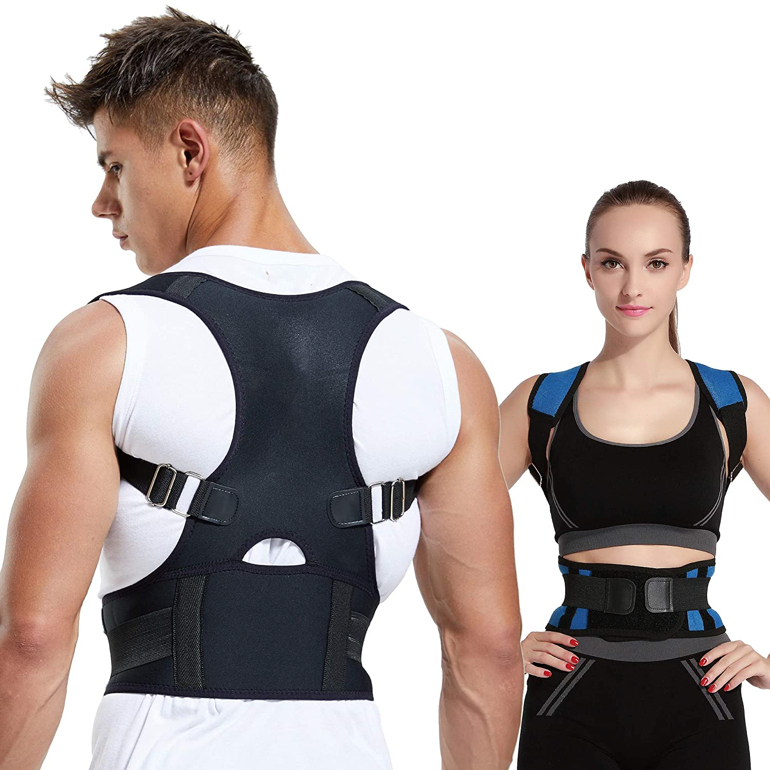 Best Posture Corrector 2020.Abble Posture Corrector For Men And Women Back Brace And Shoulder Support Trainer Improves Posture And Support Black Medium