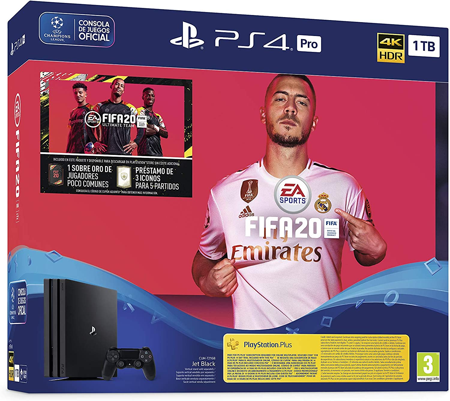 PlayStation 4 (PS4) +FIFA20/FUTVCH/Psy 14 días PS4 Pro 1TB G/SPA ...