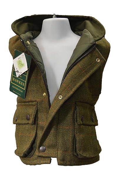 Niños Country de chaleco de tweed - adecuado para la caza - Verde Salvia - UK oscura de tamaños 20 hasta 34 (2 A 14 años): Amazon.es: Ropa y accesorios