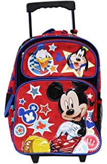 Full Size Disney Mickey Mouse and Friends Kids Rolling Backpack