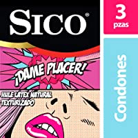 Sico Play Dame Placer, Condones Texturizados Diversión, Paquete con 3 Piezas