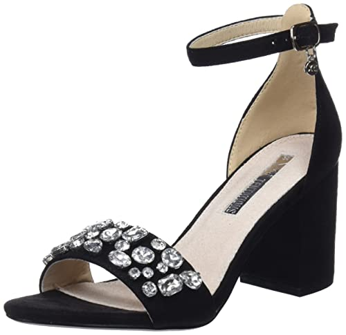 XTI 30755 Scarpe con Cinturino alla Caviglia Donna Nero Black 38 EU