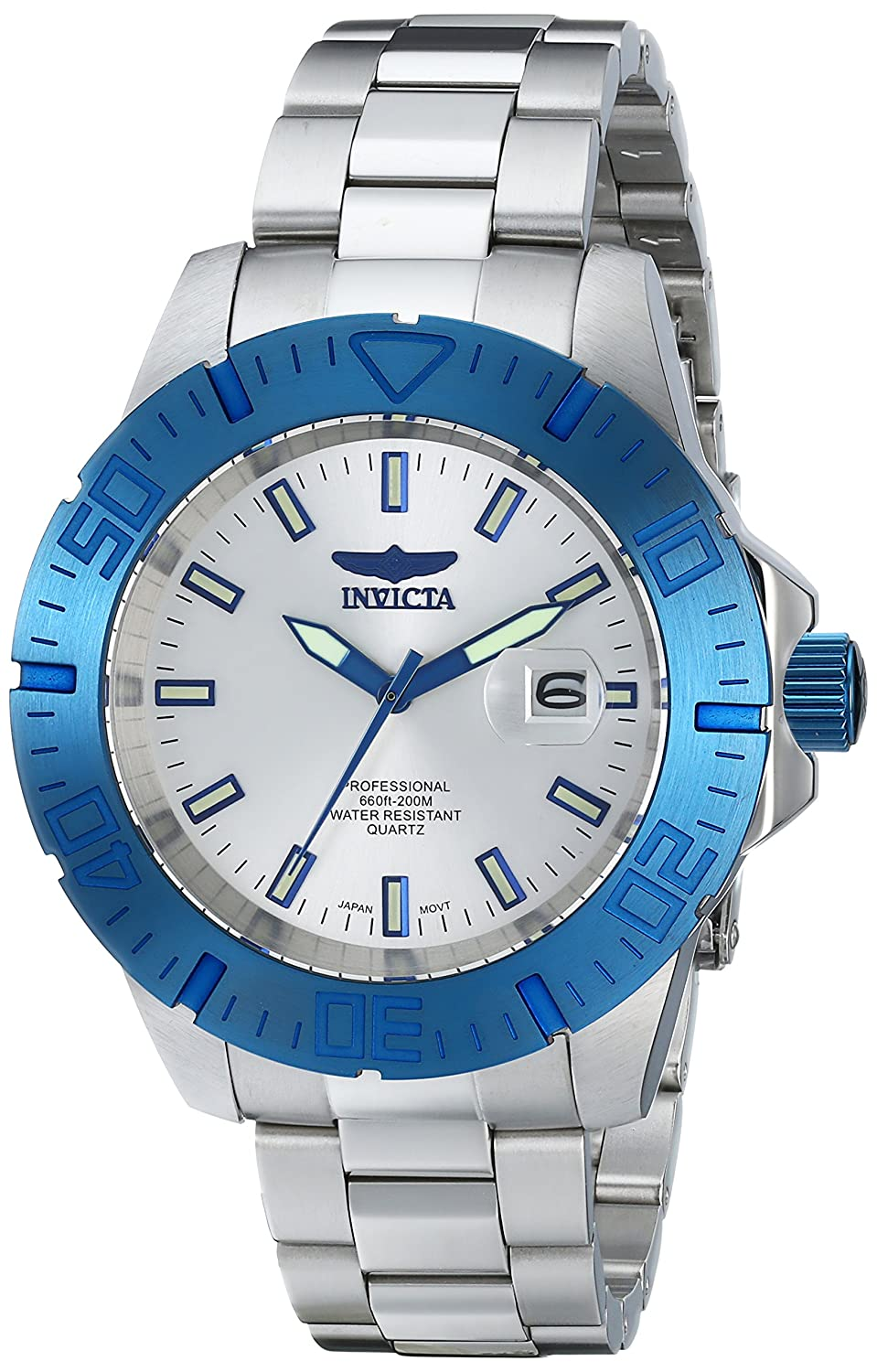 Invicta Men s 14051SYB Pro Diver Blue-Tone Stainless Steel Watch
