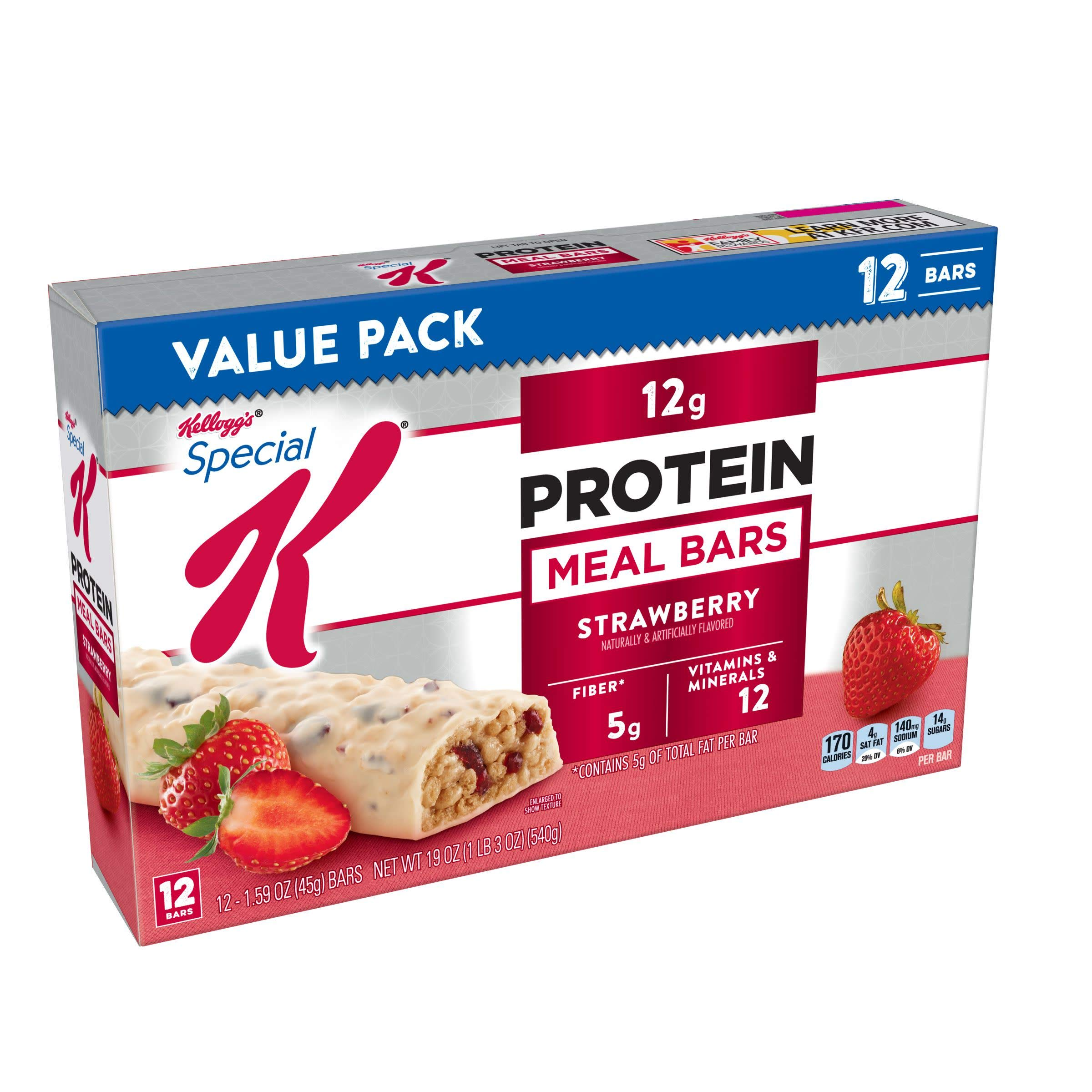 Special K Protein Meal Bars, Strawberry, Value Pack, 12 Count by Special K