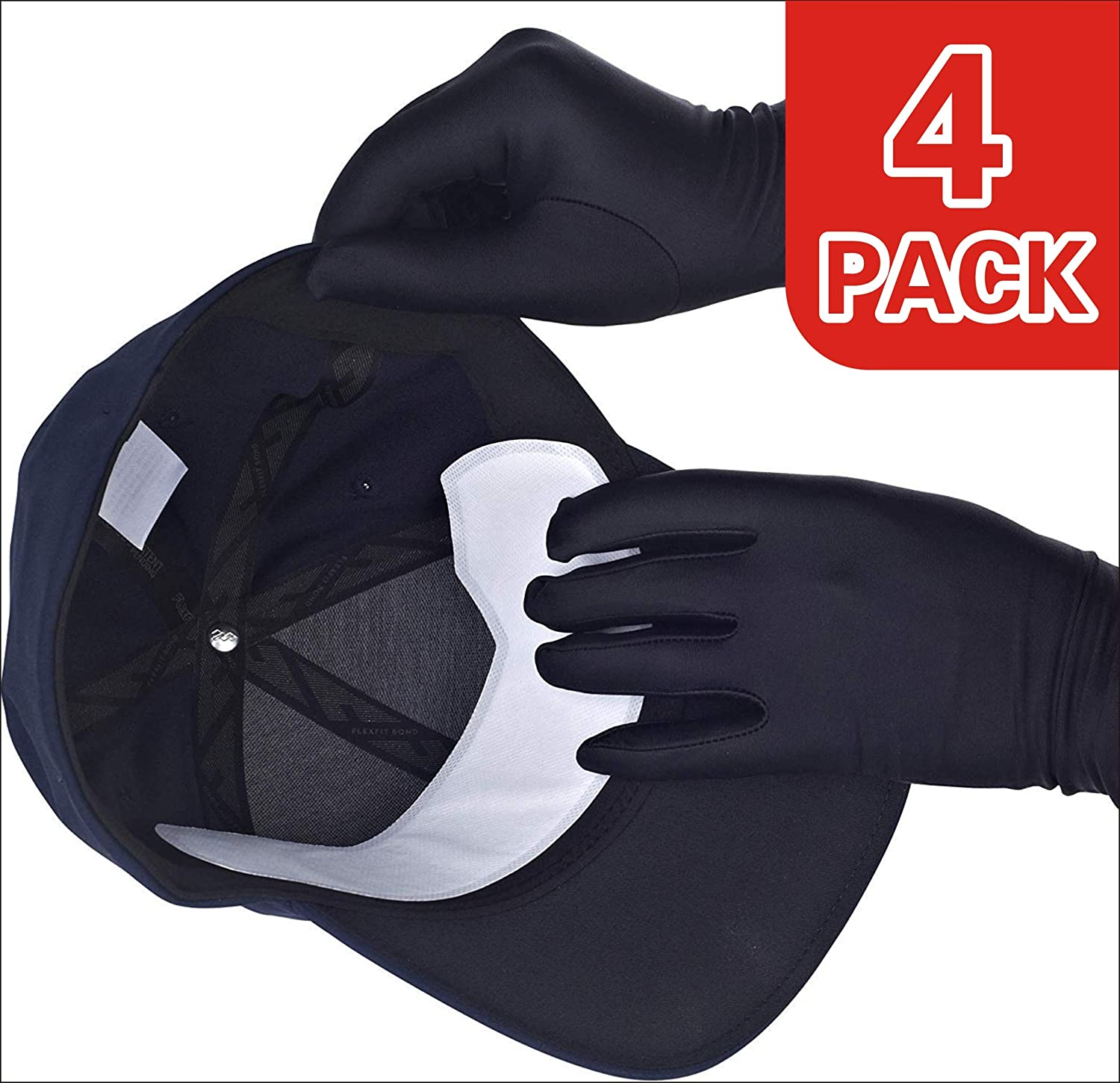 Hard Hat Liner, Men's Golf Caps, Hat Liner, Cap Protection, Prevent Hat Sweat Stains Rings, Moisture Wicking, Cooling Towel Effect, Sweatband, Hat Saver Protection, Men's Sports Hats