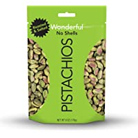 Wonderful Pistachios, No-Shell, Roasted and Salted, 6 Ounce Pouch (Pack of 5)